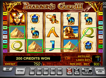 Pharaohs Gold III - играйте с Webmoney